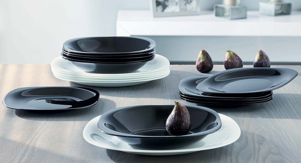 6de15913a7737 Классика Luminarc CARINE BLANC/NOIR. Посуда Французского бренда люминарк